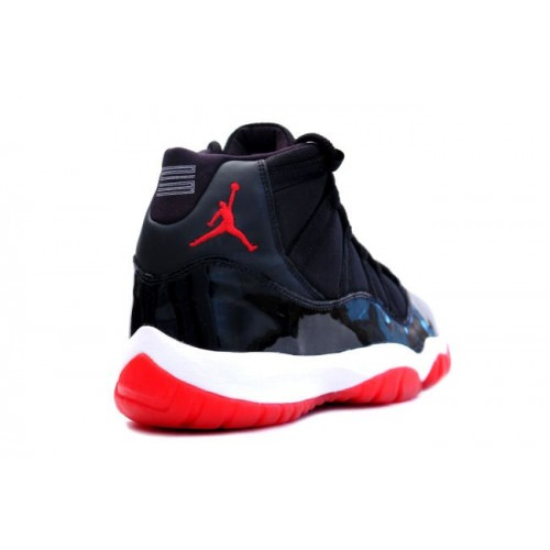 378037-010 Air Jordan 11 (XI) Bred 2012 Black White Varsity Red Playoffs Men's Shoe