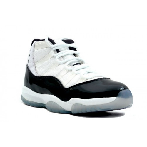 130245-101 Air Jordan 11 (XI) Original OG Mens Basketball Shoes White Black Men's Shoe