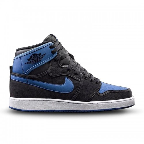Authentic 638471-007 Air Jordan 1 Retro KO High OG Black/Black-Sport Blue