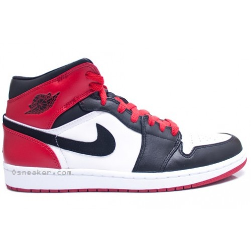 555088-184 Air Jordan 1 Retro Black Toe High OG White Black Gym Red