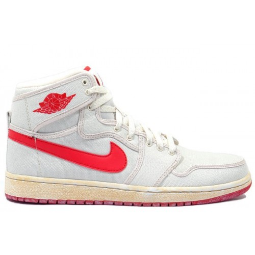 402297 161 Air Jordan 1 Retro Mens Basketball Shoes KO Hi White Red A01018