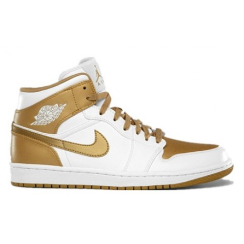 364770-130 Air Jordan 1 Phat 2012 White Metallic Gold A01015