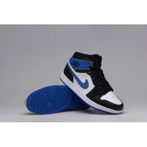 Authentic Air Jordan 1 Retro KO High OG Black white-Sport Blue (Men Women GS Girls)