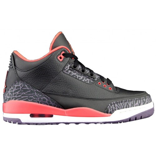 Air Retro Jordan 3 Bright Crimson Black Crimson-Bright Violet 136064-005 A03017