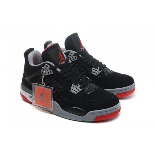 308497-089 Air Retro Jordan Bred 4s CDP 2012 Black Cement Grey Fire Red