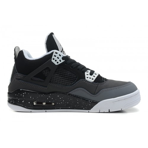 626969-030 Air Jordan IV (4) Fear PACK Black White Stealth Cool Grey Platinum(Women Men Gs Girls)