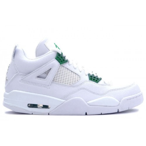 308497-101 Air Jordan IV 4 White Chrome Classic Green A04004