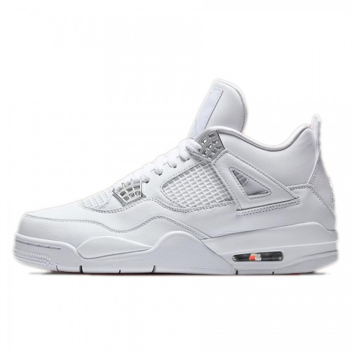 Air Jordan 4 Pure Money White/Metallic Silver-Pure Platinum (308497-100)