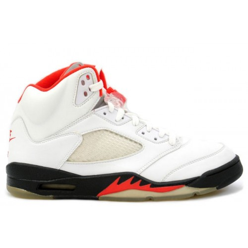 136027-100 Air Jordan 5 Retro Fire Red White Black (Women Men Gs Girls)