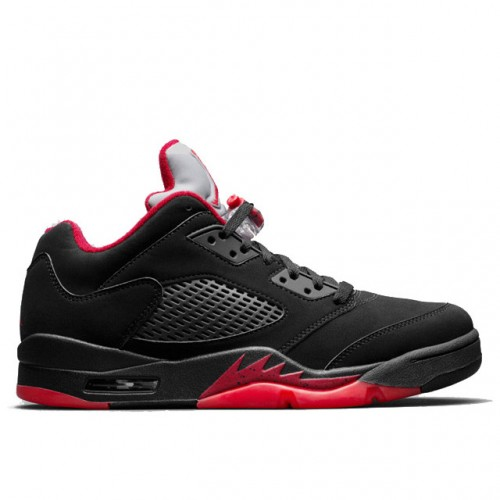 Authentic Air Jordan 5 Retro 819171-001 Low 'Alternate 90' Black/Gym Red-Metallic Hematite