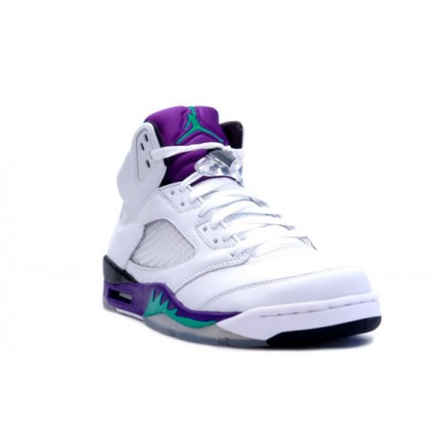 610948f5156 136027-108 Air Jordan 5 Retro Grape White New Emerald-Grape Ice-Black ...