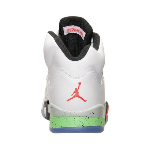 new products 8cede f97d9 ... Authentic 136027-115 Air Jordan 5 Retro White Infrared 23-Light Poison  Green ...