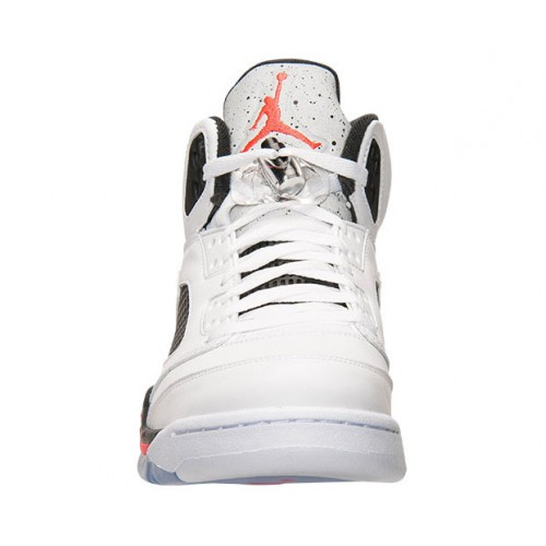 new products bd408 87158 ... Authentic 136027-115 Air Jordan 5 Retro White Infrared 23-Light Poison  Green ...