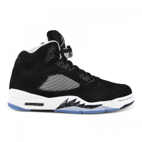 136027-035 Air Jordan 5 Retro Black Cool Grey-White (Women Men Gs Girls)