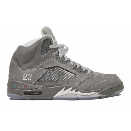 136027-005 Air Jordan Retro 5 (V) Wolf Grey Light Graphite White Wolf Grey A05001