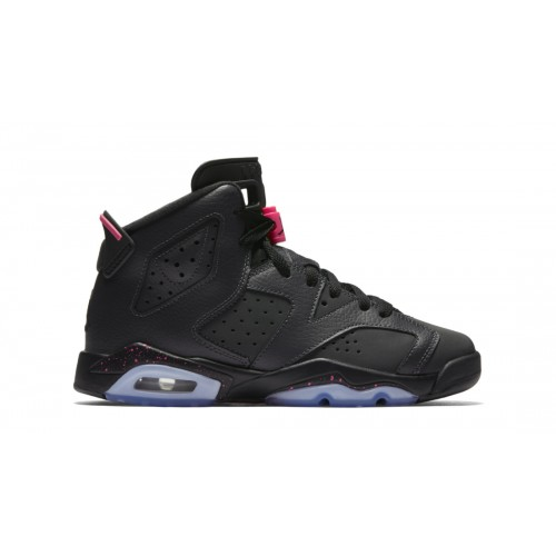 "Authentic Air Jordan 6 Retro GS ""Hyper Pink"" Anthracite/Black-Hyper Pink (543390-008)"