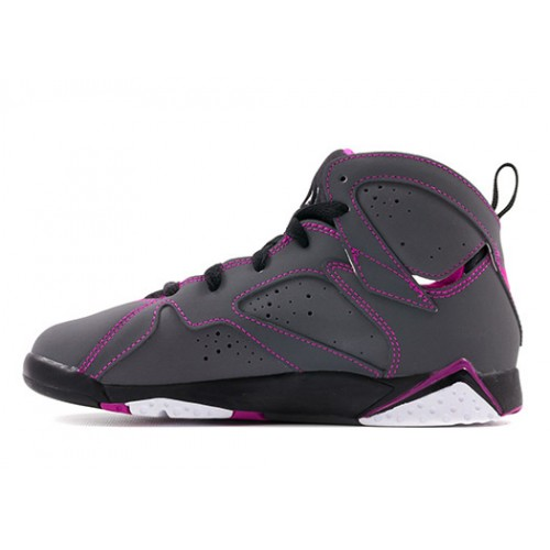 Authentic 705417-016 Air Jordan 7 Retro Girls Dark Grey/White-Black-Fuchsia Flash