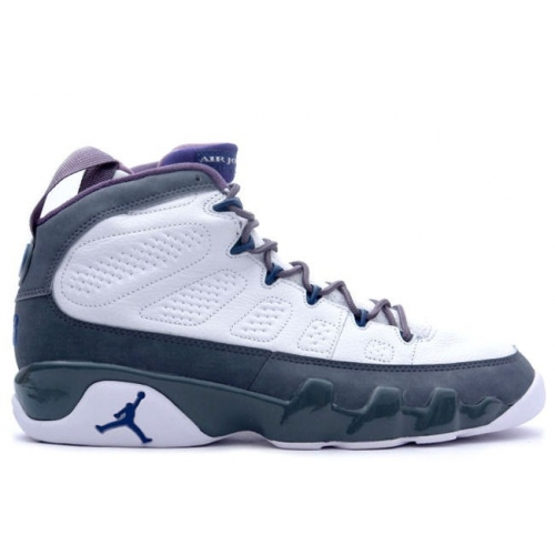 302370-141 Air Jordan 9 (IX) Retro White French Blue Flint Grey A09009