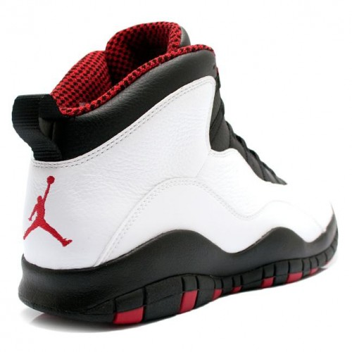310805-100 Air Jordan Retro 10 (X) Chicago Bulls White Varsity Red Black 2012 A10002