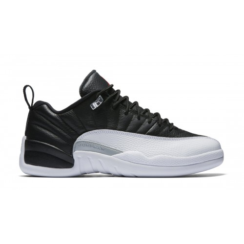 308317-004 Air Jordan 12 Retro Low Black/White-Varsity Red (Playoffs)
