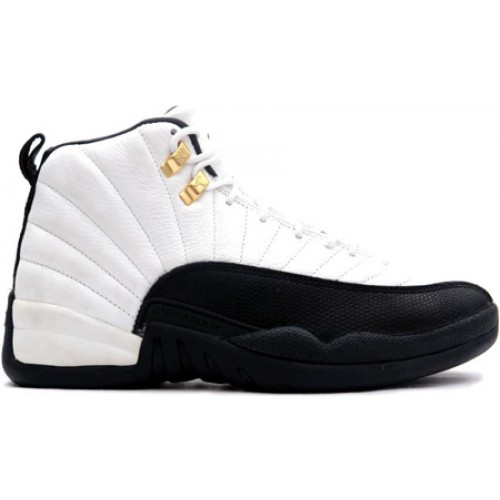 Air Jordan 12 Retro 130690-125 White/Black-Taxi 2013 Grade School's Shoe