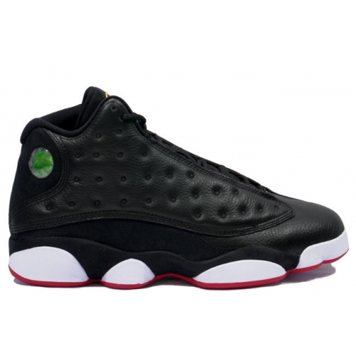 414571-001 Air Jordan Retro 13 Playoffs Black White Varsity Red Vibrant Yellow A13007