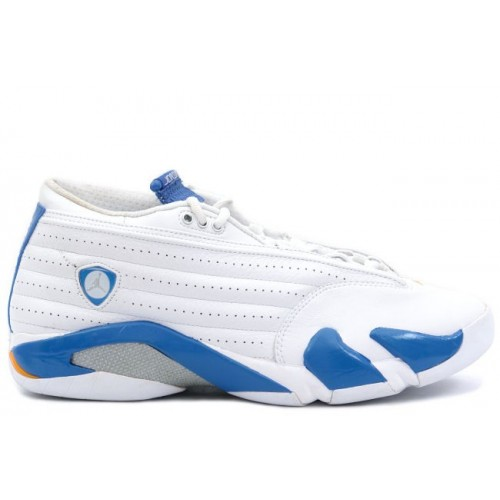 312567-141 Air Jordan XIV 14 Retro Mens Basketball Shoes Low White Pacific Blue A14005