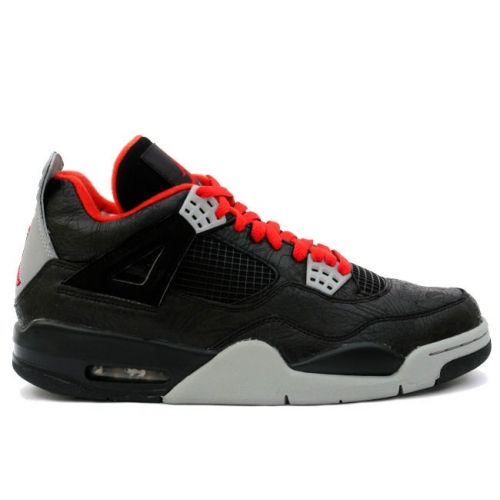 312255-061 Air Jordan 4 Retro Womens Laser Black Red Medium Grey A24014