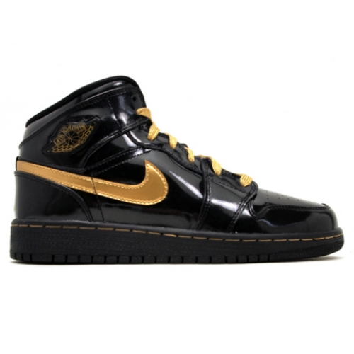 364781-001 Air Jordan 1 phat (gs) girls black metallic gold A24019